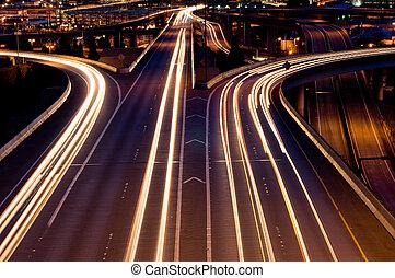 Seattle highways - American interstate at night