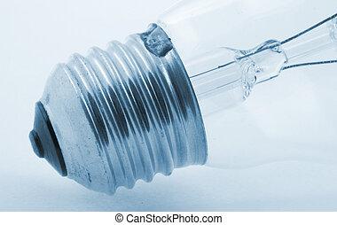 bulb details on blue