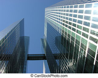 high-rise building - view between two high-rise buildings