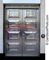 Aluminium door - Big aluminium metal front door