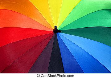 Rainbow Umbrella 1 - Multicolored umbrella brings brightness...