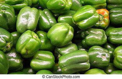Vegetable - Green Bell Pepper - green bell pepper in the...