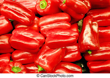 Vegetable - Red Bell Pepper - red bell pepper in the middle...