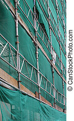 Scaffolding and Green Cladding