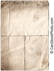Antique Decayed Paper (inc clipping path) - scanned decayed...
