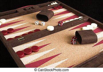 backgammon board set up