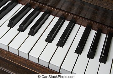 piano keyboard - black and white piano keys on piano...