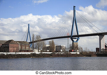 Koehlbrand-Bridge Kouml;hlbrand 2 - Hamburg, Germany The...