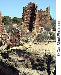 Complex Ruins - Ruins of the Hovenweep Castle compound at...