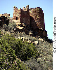 Hovenweep Towers - The towers of Hovenweep Castle at...