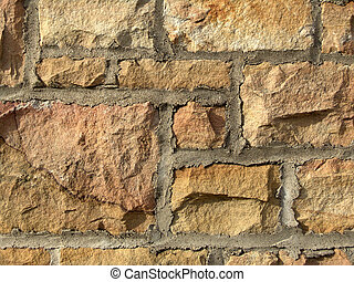 Stone Wall - stone wall with mortar background