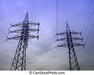 Electricity 1 - High Tension wires from a power plant