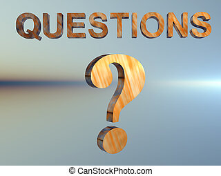 Question Mark. - 3D background, illustration of a question...
