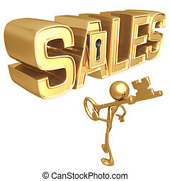 Key To Sales - Concept Presentation Figure 3D