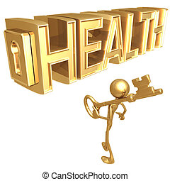 Key To Health - Concept Presentation Figure 3D