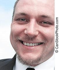 Smiling businessman - Close up of a smiling businessman