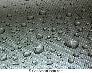 droplets on metal - water droplets on metal, grey...