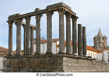 ruins - Temple of Diana, Evora, Alentejo, Portugal