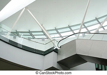 Escalator - Architectural detail, skylight and escalator