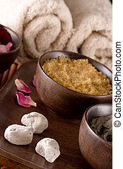 Scented Stones - Spa accessories: scented stones, body scrub...