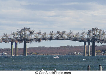 Bridge Demolition - Explosive Charges are Detonated to Begin...