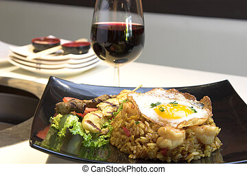 Indonesian Fried Rice - Exotic dish of Indonesian fried rice...