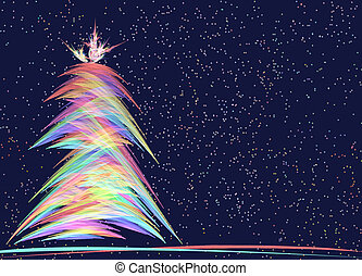 Christmas Tree Allegory - Photoshop generated Christmas Tree...