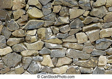 Wall 16 - Old grey stone wall texture background