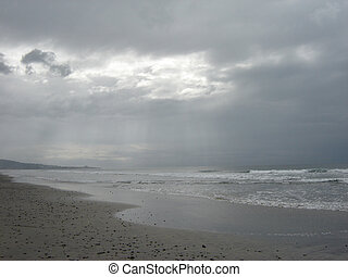 California beach - Dull day
