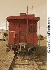 Vintage Caboose - Antique caboose in childrens park