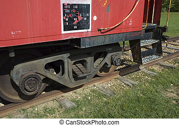 Caboose wheels - Rear wheels on old caboose in childrens...