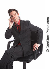 talk - Businessman on the phone