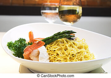 Seafood Noodles - Delicious seafood fried noodles with...