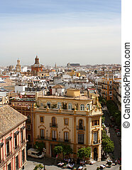 Seville cityscape - View of Seville, Spain rooftops