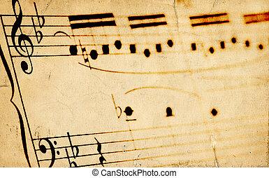 Aged Sheetmusic Background