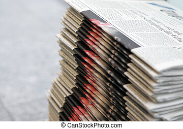 information - deck of newspapers -