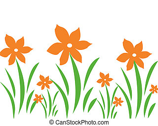 Orange flower design background