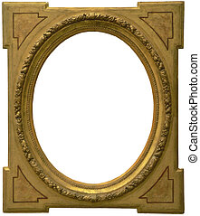 Old Frame isolated - Old frame carved in wood from an old...