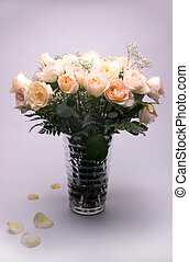 Rose Bouquet - Roses Arranged In A Glass Vase