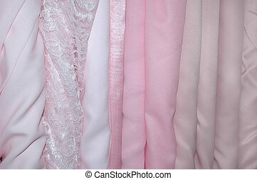 Pink Bolts of Fabric
