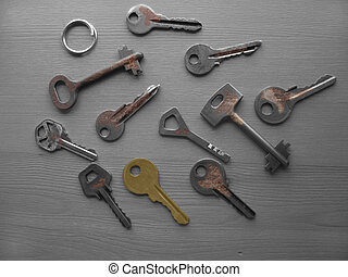 Keys - Many rusty keys