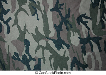 Camouflage fabric.