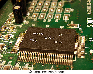 MicroChip - Computer card with a chip and several electronic...