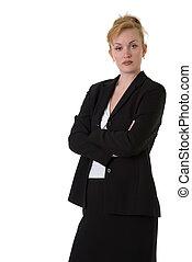 professionell, kvinna, affär, tillitsfull