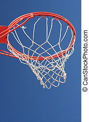 Basketball Net - A Basketball Net is Displayed against a...