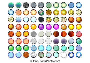 Circle illusration 06 - Bunch of ball shaped illustrations...