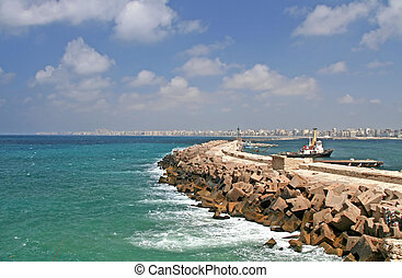 Dock at Alexandria, Egypt