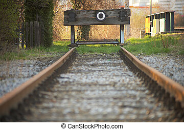 dead-end - Sackgasse - end of a railway track