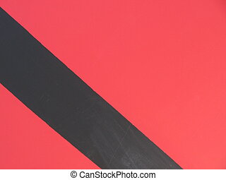 Red Wall, Black Diag - Red wall with painted black diagonal...