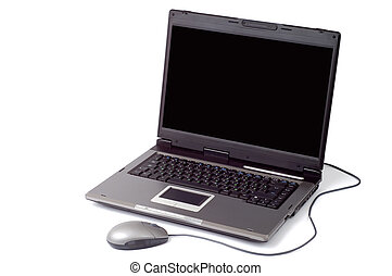 Laptop 1 - Black laptop computer isolated on white
